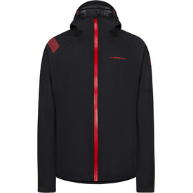 La Sportiva Run Jacket Women black/hibiscus
